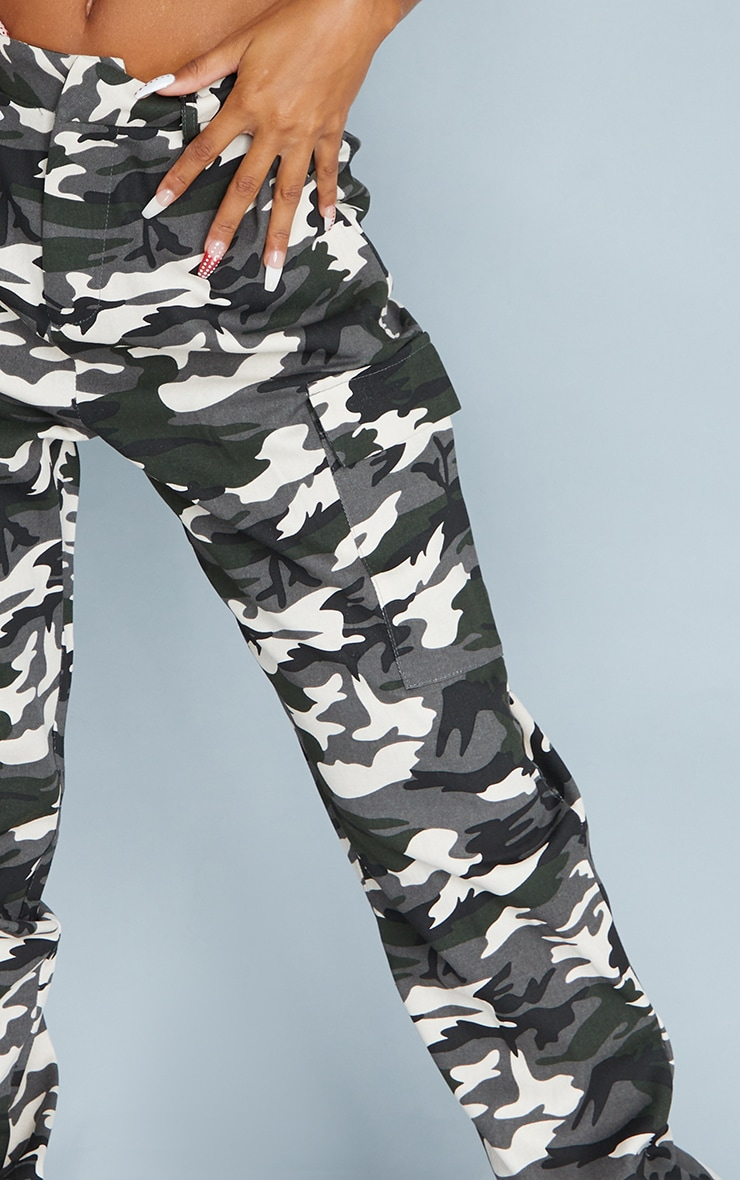 Grey Camo Pocket Detail Cargo Trouser 4