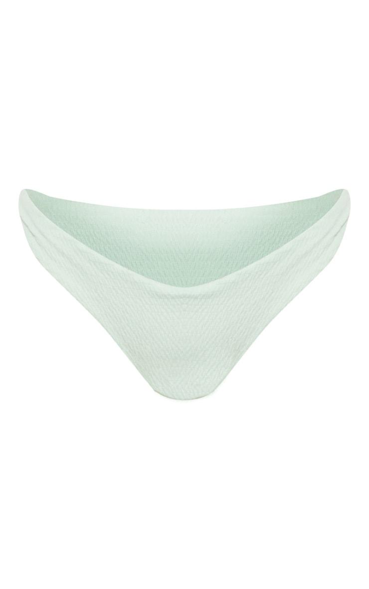 Mint Crinkle V Front Bikini Bottom 3