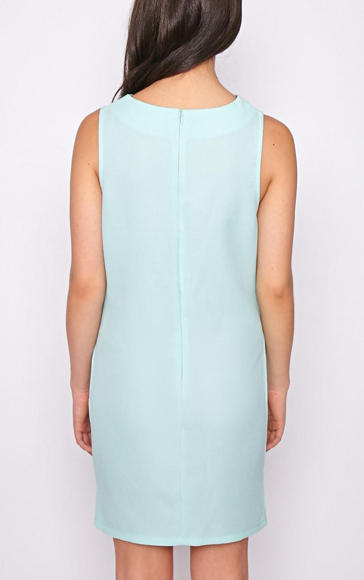 Amelie Mint Mesh Insert Dress 2