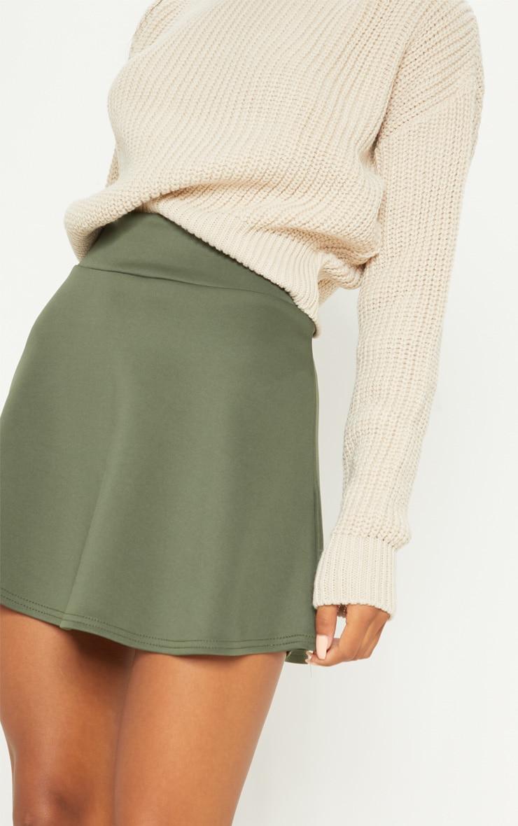 Peach Scuba Flippy Mini Skirt  6