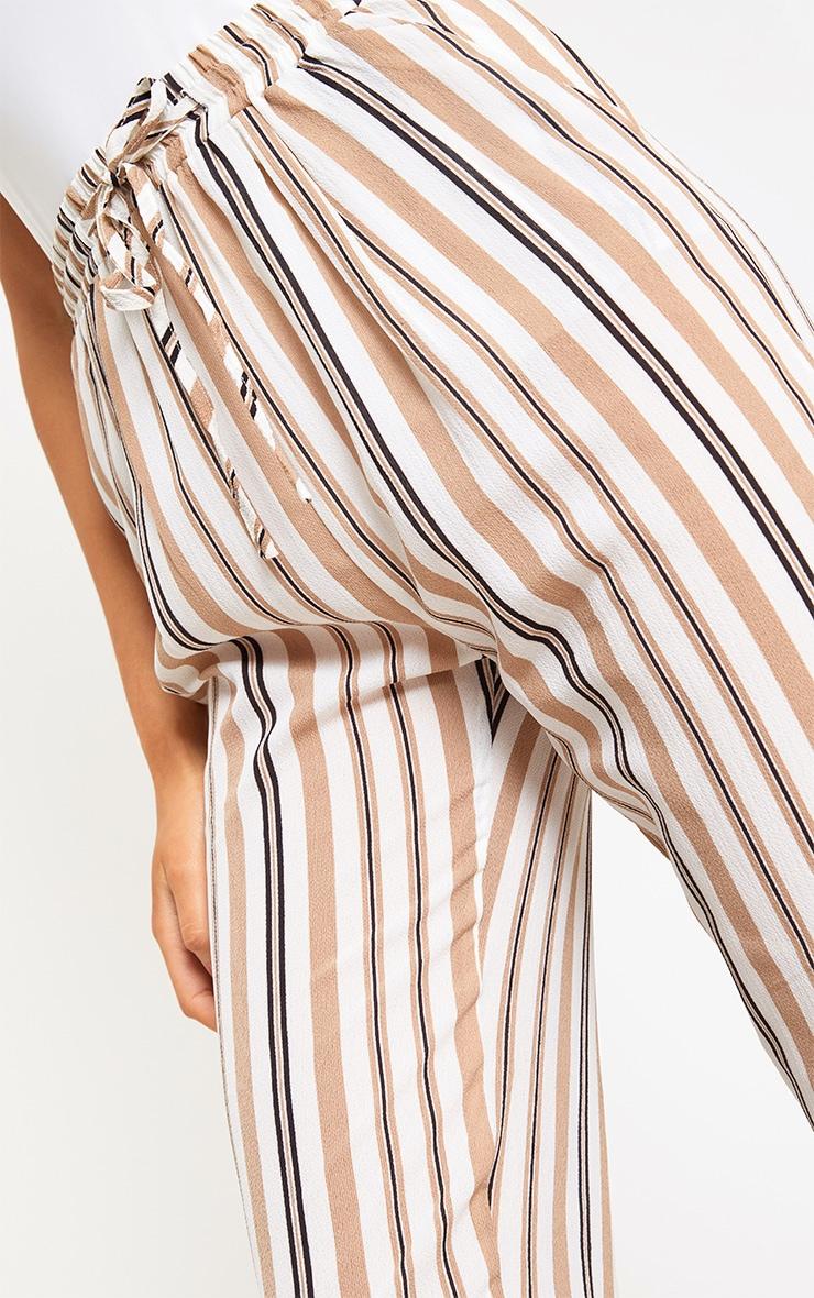 Stone Stripe Casual Trousers 5