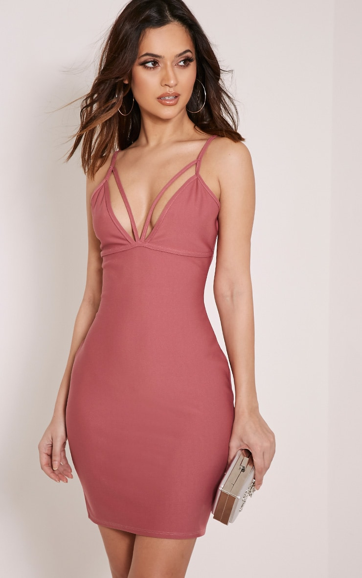 Carolina Rose Double Strap Bodycon Dress 1