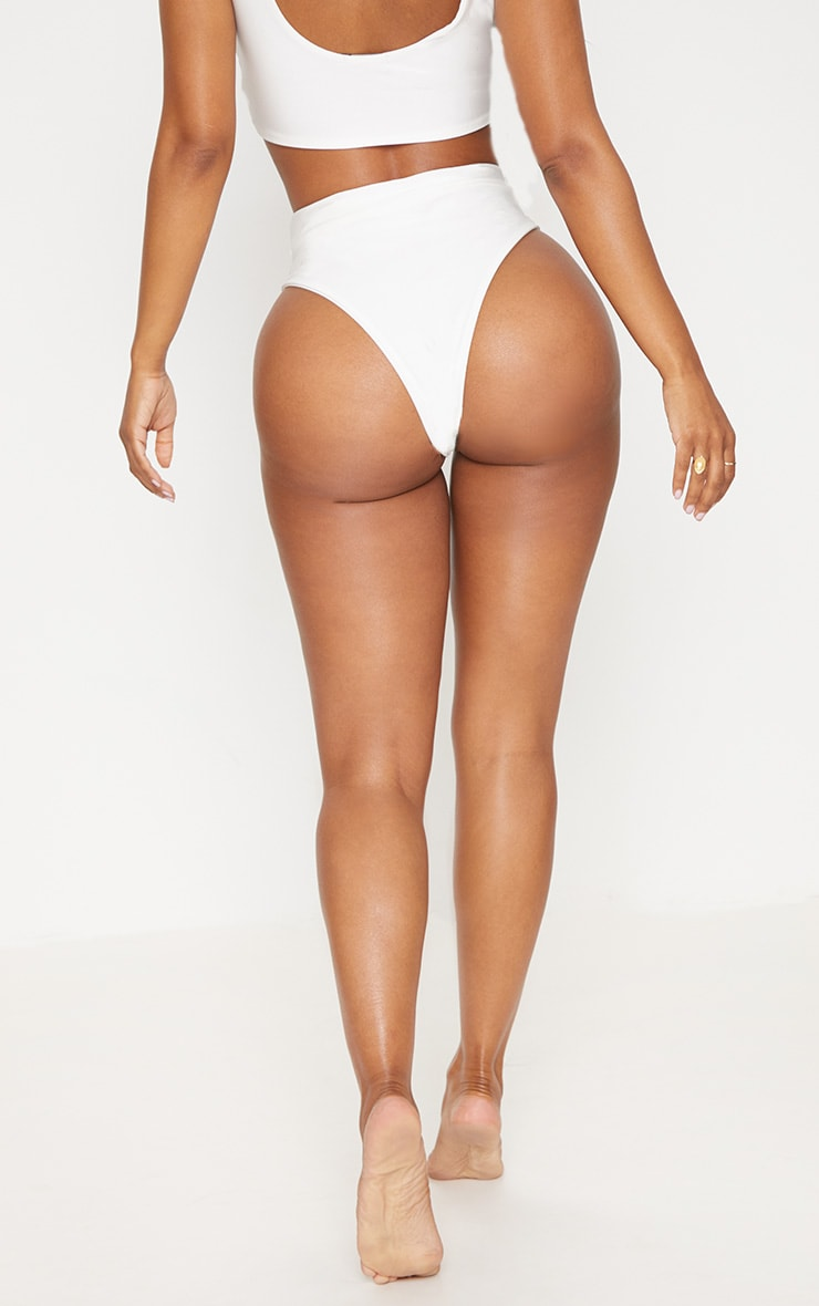 Shape White Extreme High Leg Bikini Bottom 4