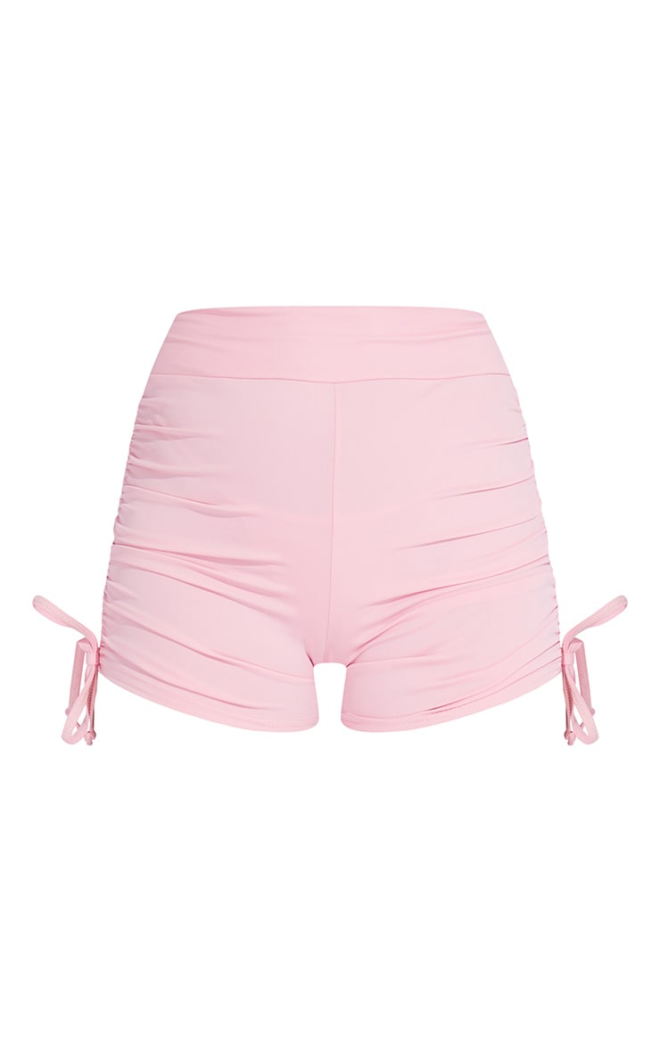 Pink Ruched Side Booty Short 6