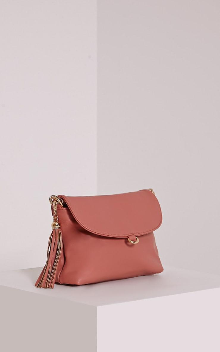 Ezrah Pink Tassel Bag 1