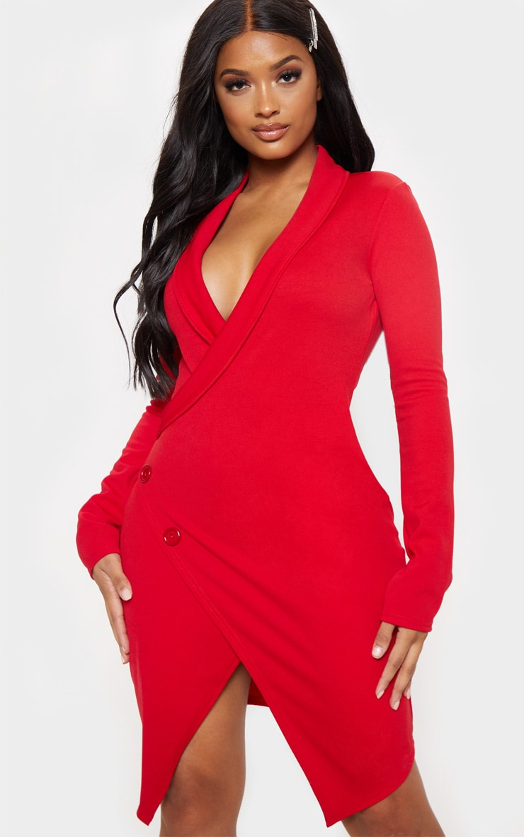 Shape - Robe blazer rouge 4