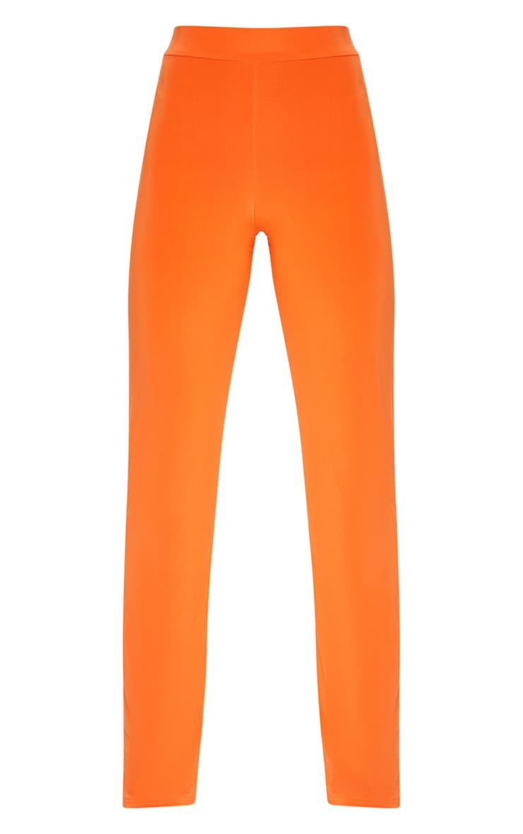 Petite Orange Slinky Wide Leg Trousers 3