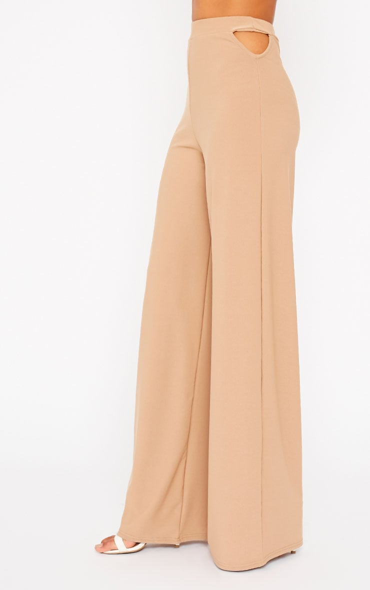 Elphina Camel Cut Out Palazzo Trousers 3