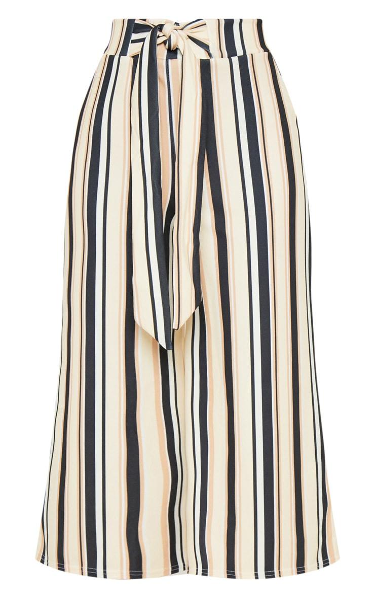 Sand Stripe Tie Waist Culotte  3