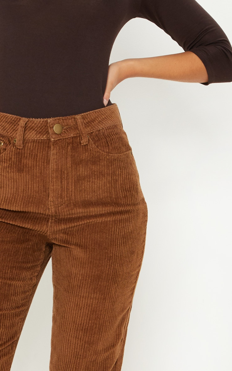 Camel Jumbo Cord Mom Jeans 5