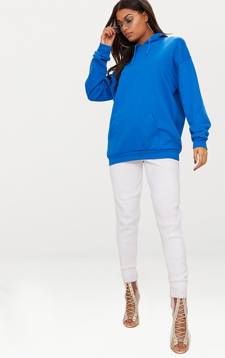 Cobalt Blue Oversized Hoodie 3