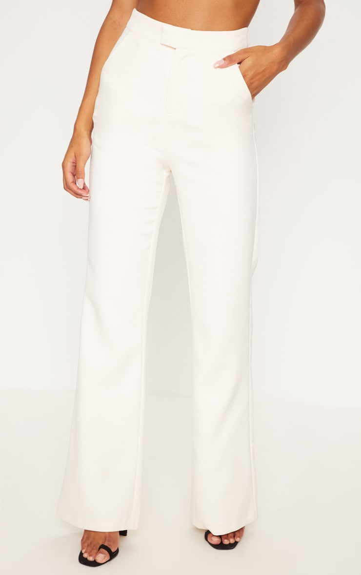 Cream Wide Leg Trousers 2