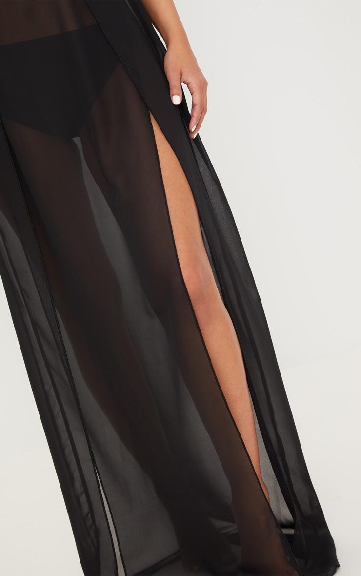 Petite - Jupe longue noire en mesh 5