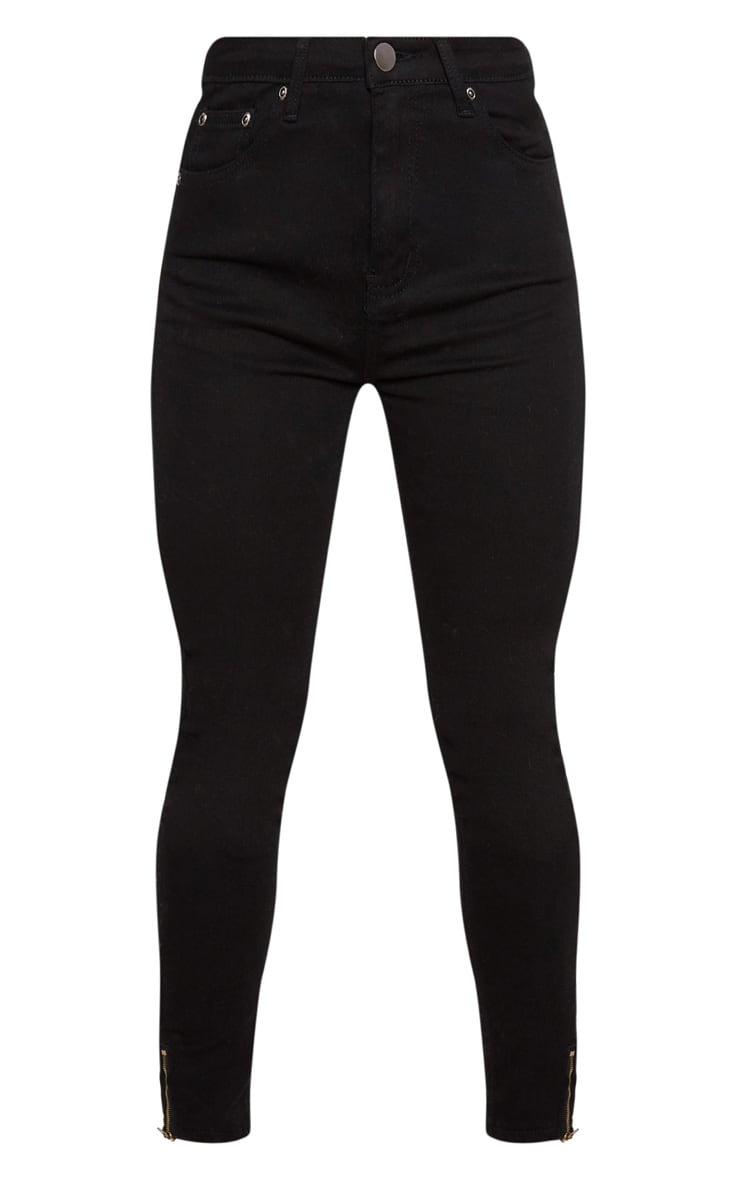Black Distressed Bum Rip High Waisted Skinny Jean 3