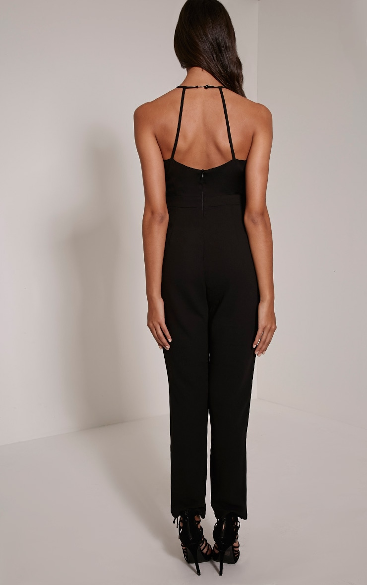 Aishina Black Lace Up Insert Jumpsuit 2