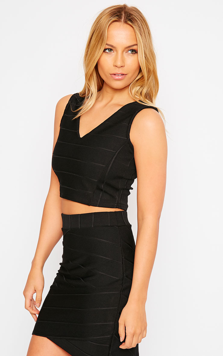 Kirsten Black Bandage Crop Top 4