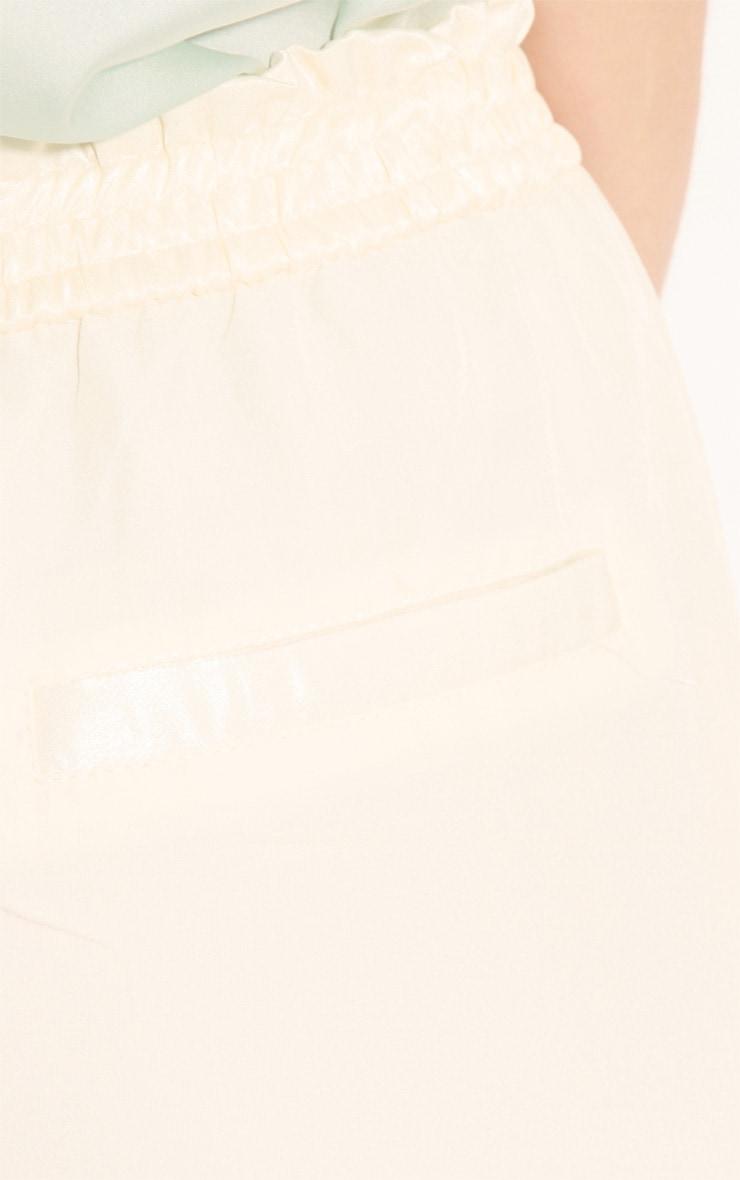 Gracy Cream Chiffon Trousers 6