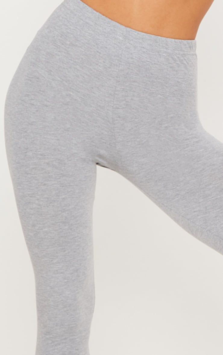 Black and Grey Basic Cotton Blend 2 Pack Jersey Legging 8