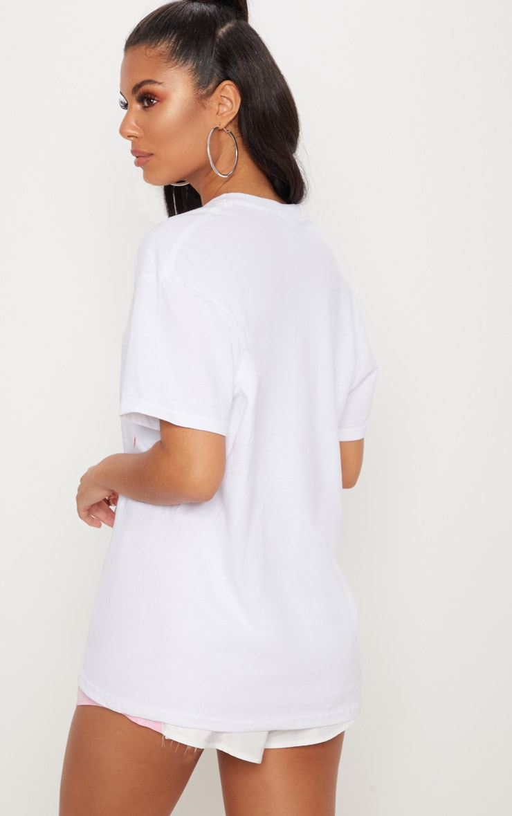 PRETTYLITTLETHING White Embroidered T Shirt 2