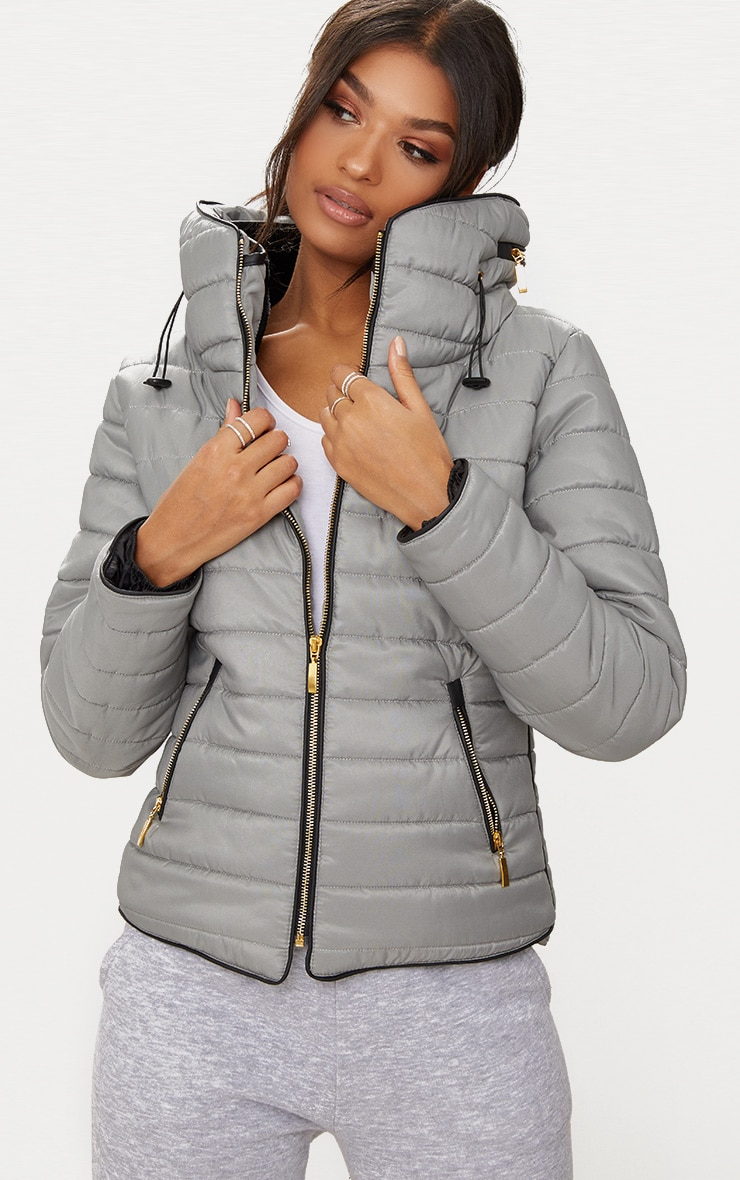 Mara Grey Puffer Jacket 1