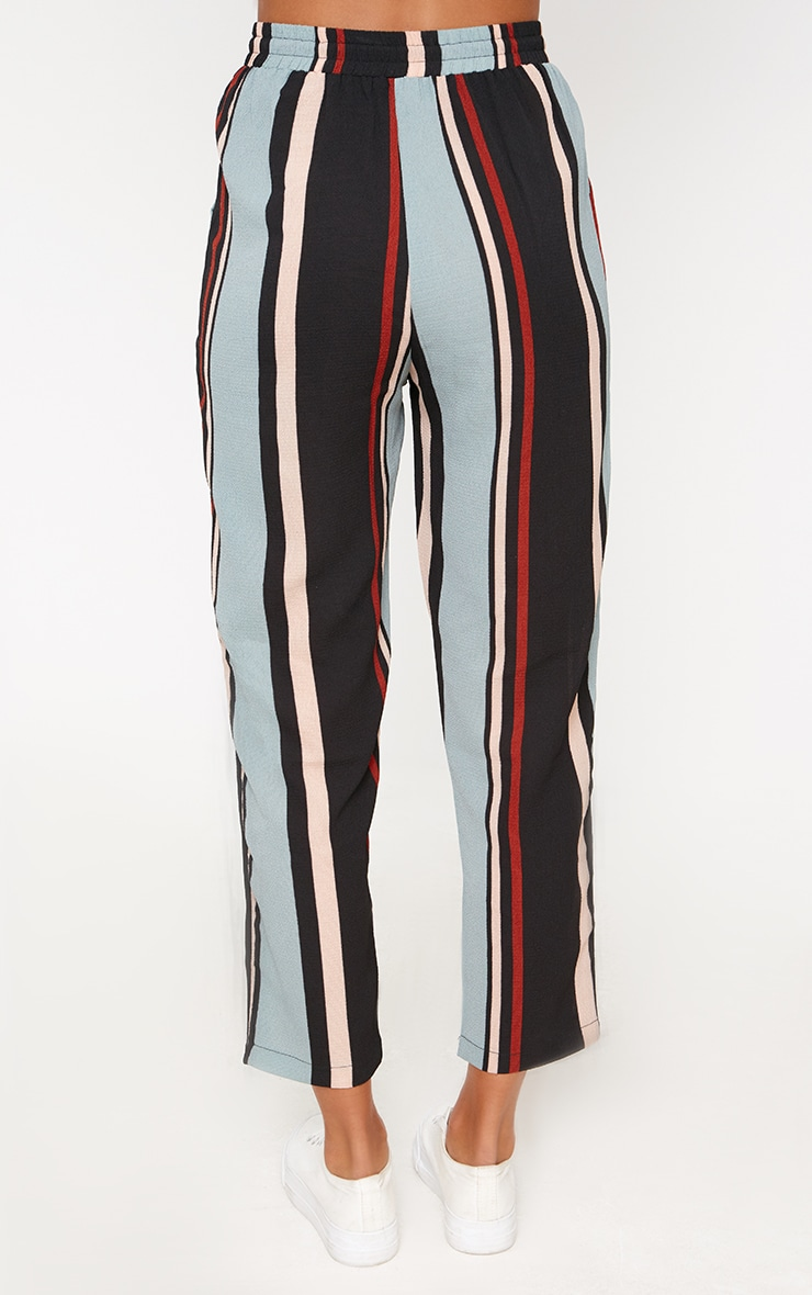 Blue Stripe Casual Trousers 4