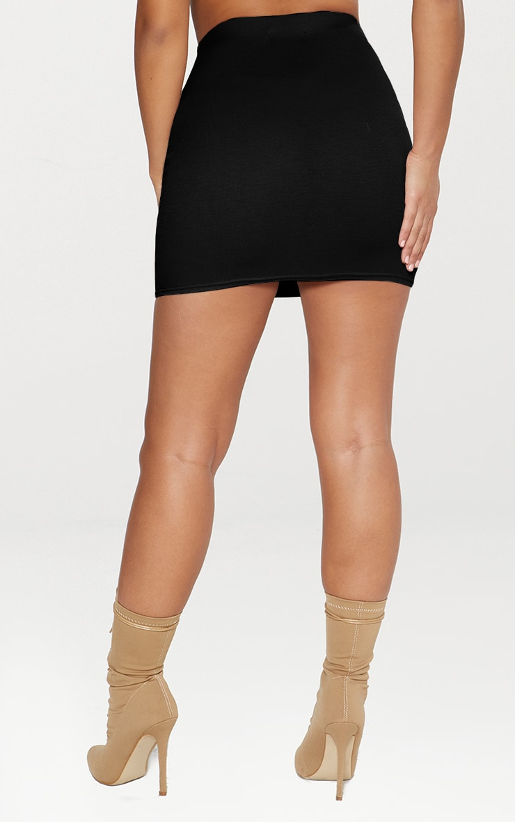 Black Ponte Mini Skirt 3