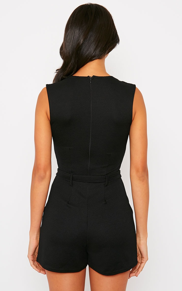 Evie Black D-Ring Playsuit 2
