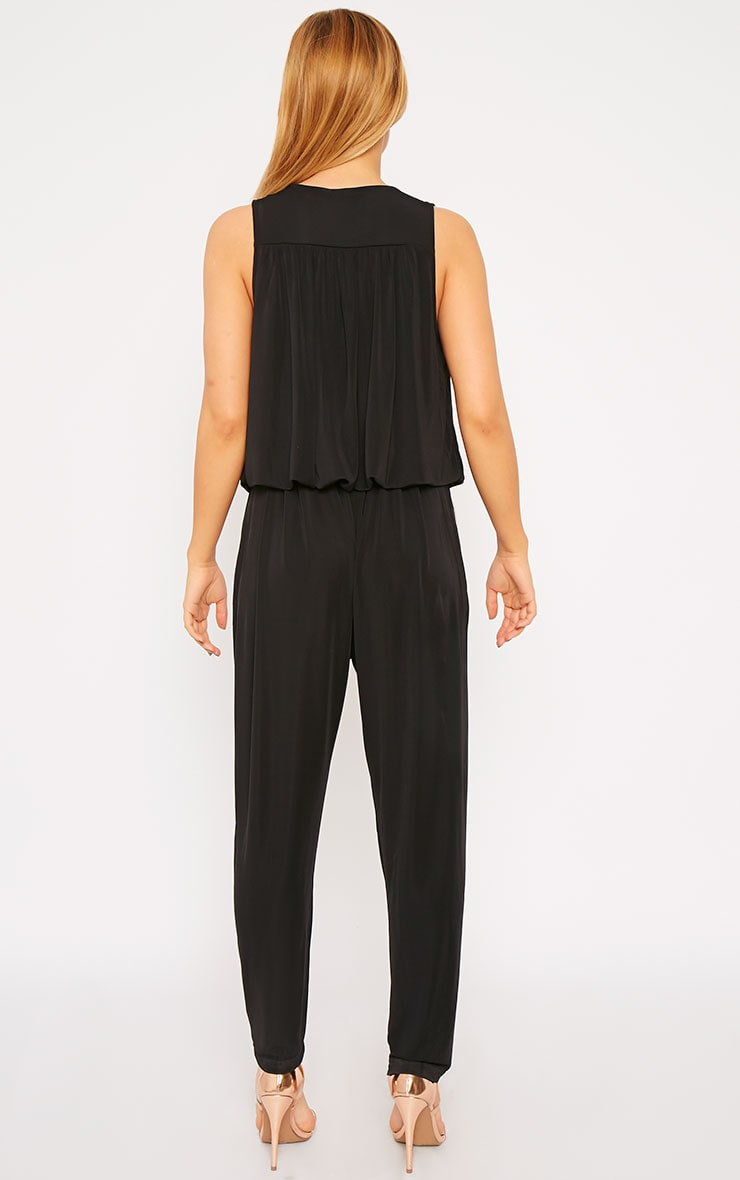 Agneta Black Wrap Front Jumpsuit  2