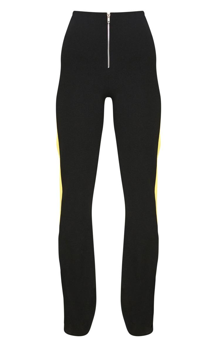 Black High Waisted Side Stripe Trouser 3