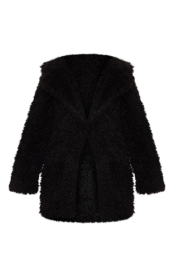 Black Teddy Faux Fur Coat 3