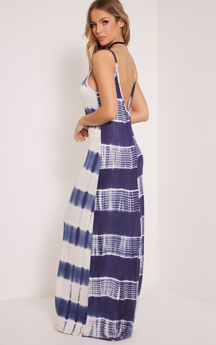Ranita Blue Tie Dye Maxi Dress 5