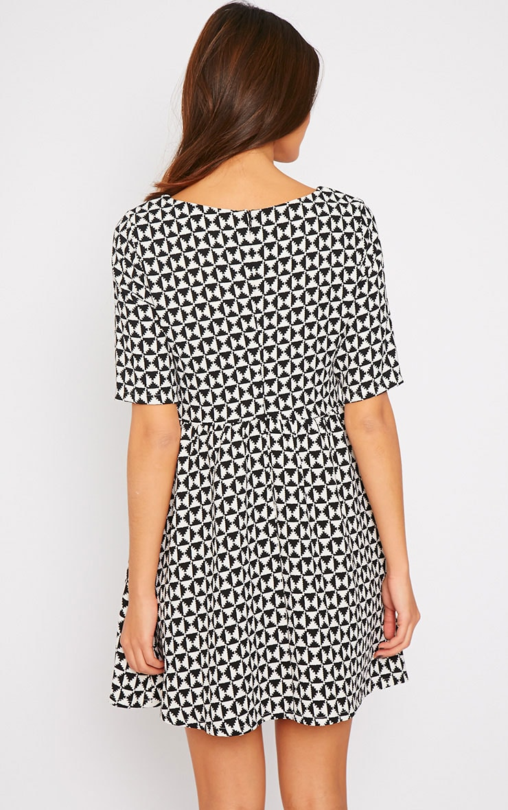 Kelly Monochrome Print Skater Dress 2