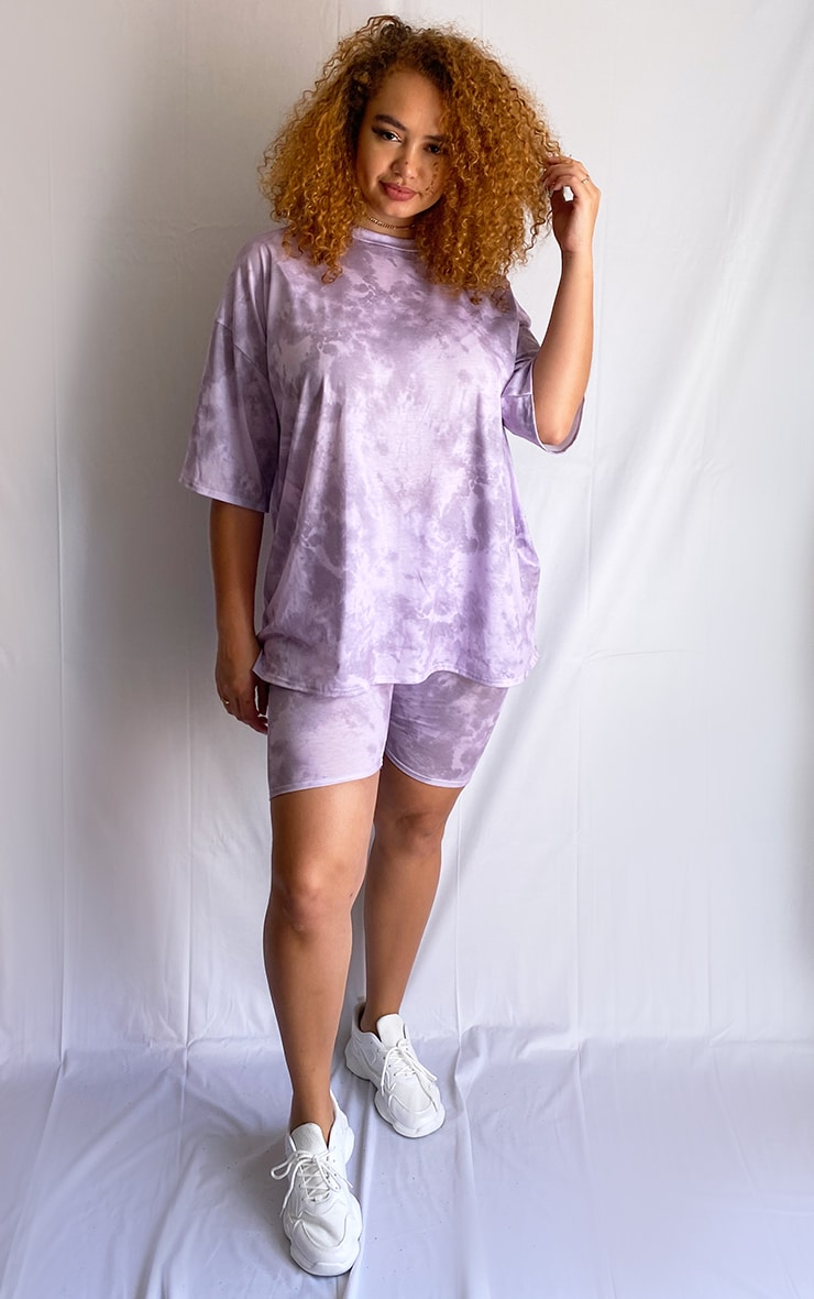Plus Purple Tie-Dye Oversize T-Shirt 3