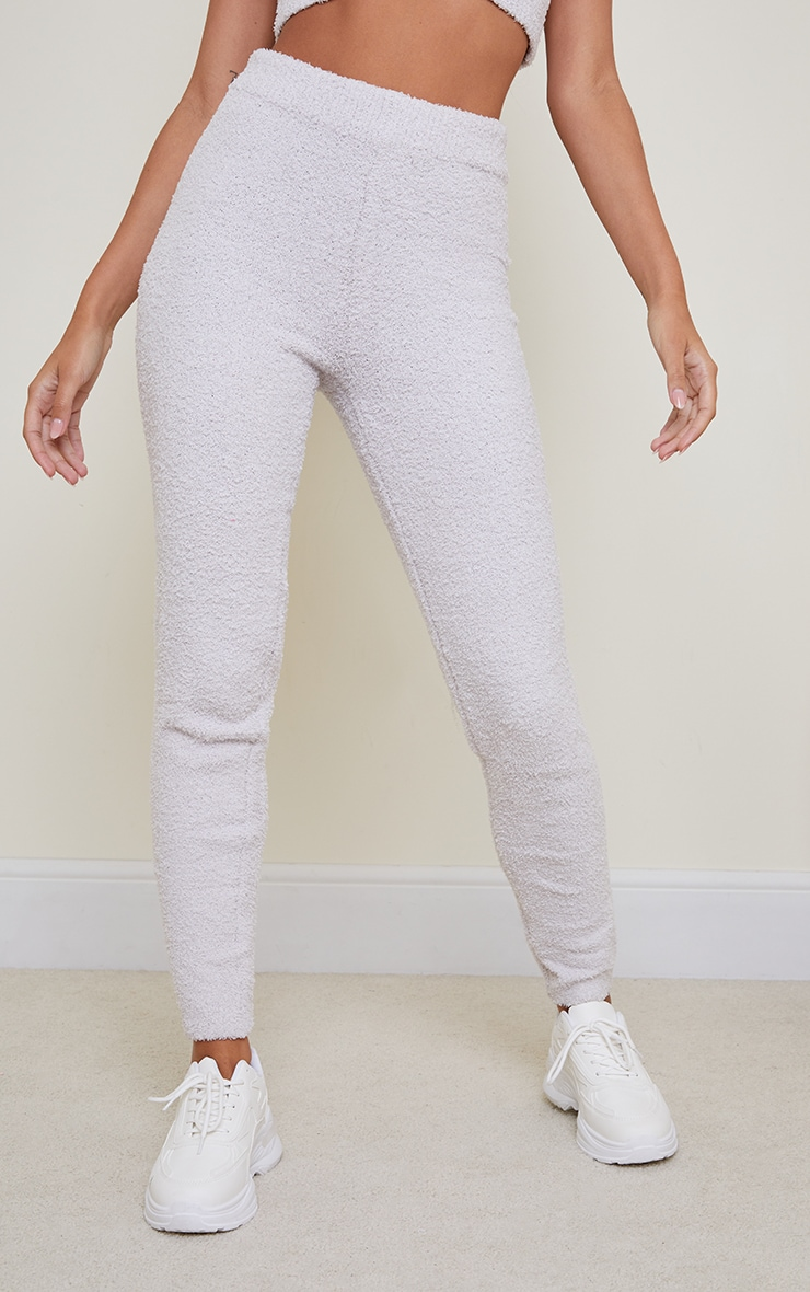 Grey Premium Fluffy Knitted Legging 2