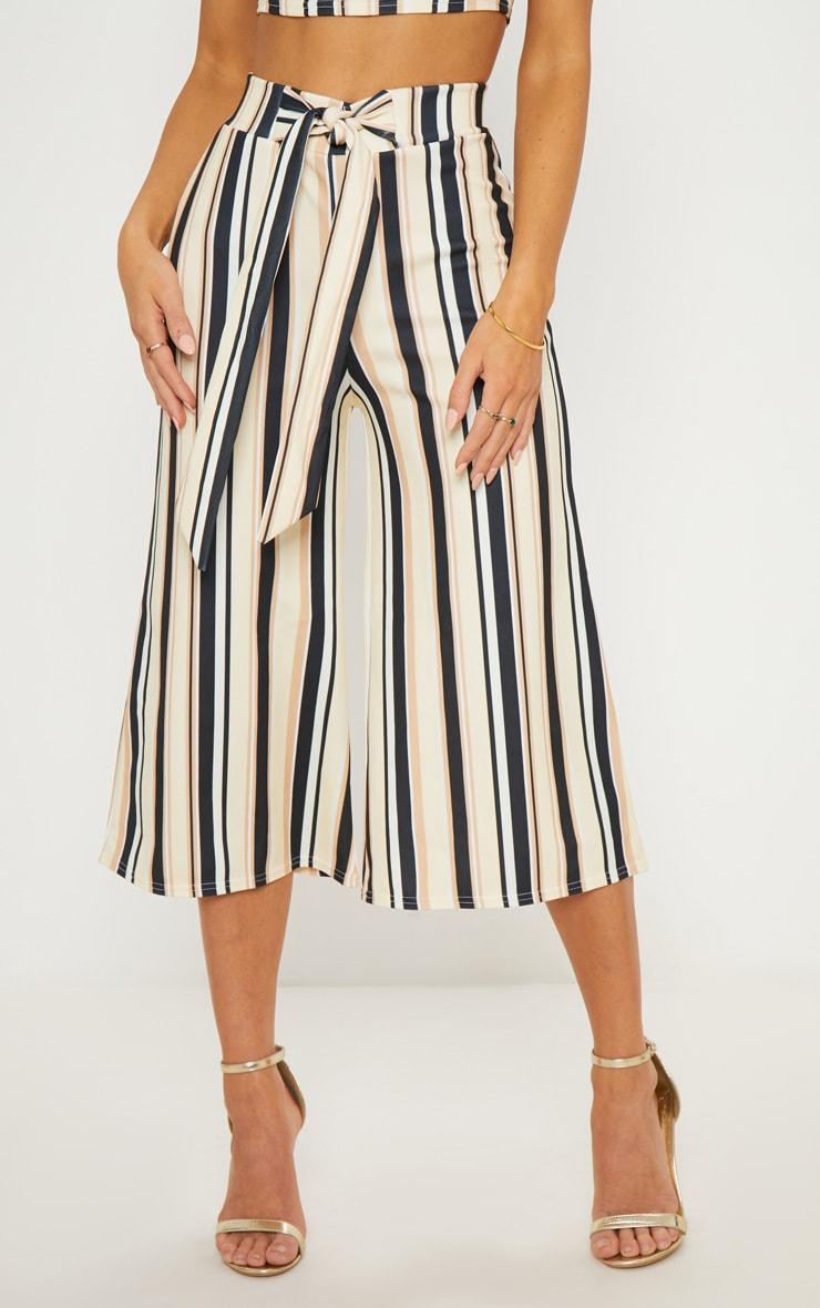 Sand Stripe Tie Waist Culotte  2
