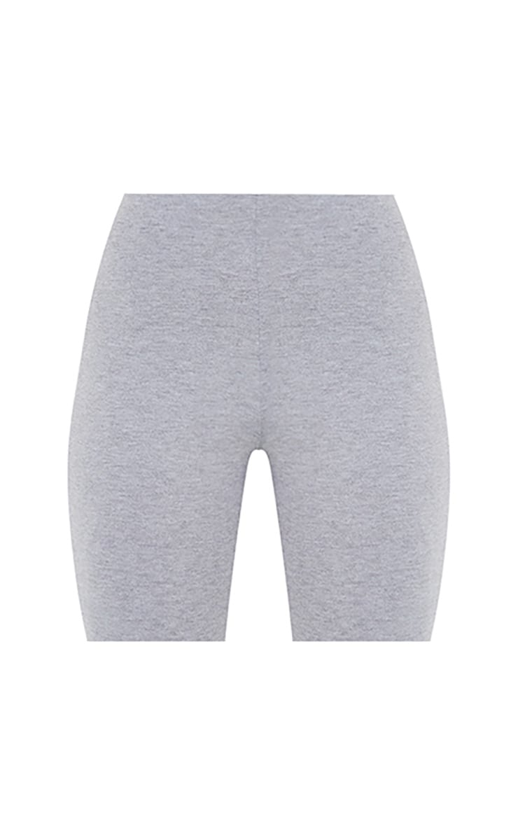Basic Jersey Grey Cotton Cycle Shorts 6