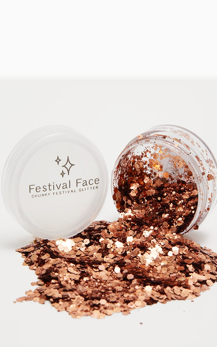 Festival Face Copper Tan Glitter 1