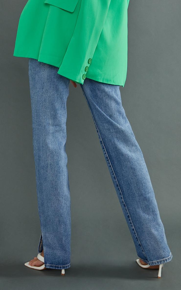 Tall Mid Wash Split Hem Jeans 3
