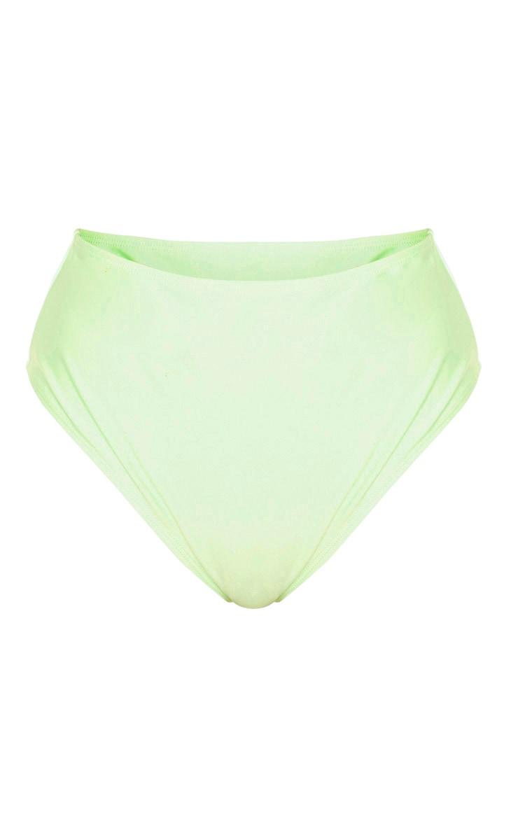 Bas de maillot de bain taille haute menthe Mix & Match 7