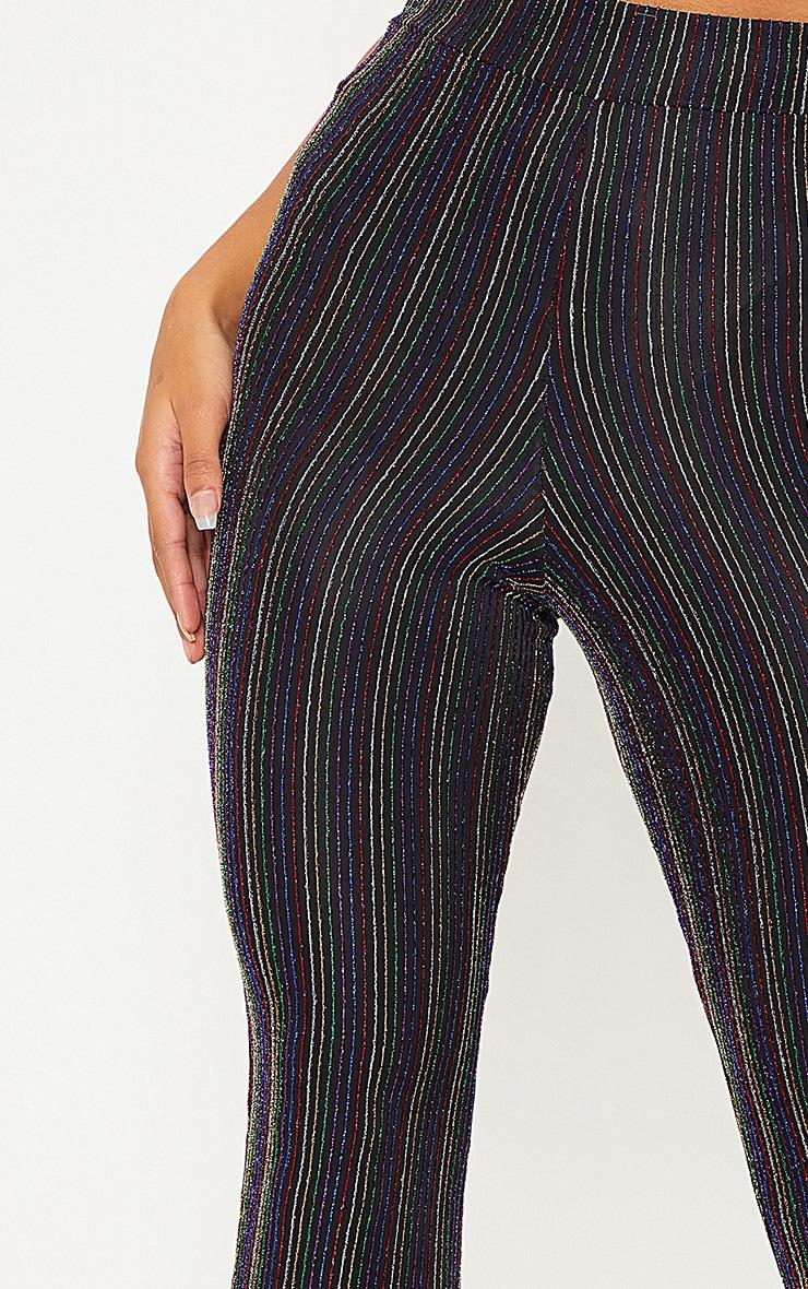 Black Rainbow Stripe Glitter Pants  5