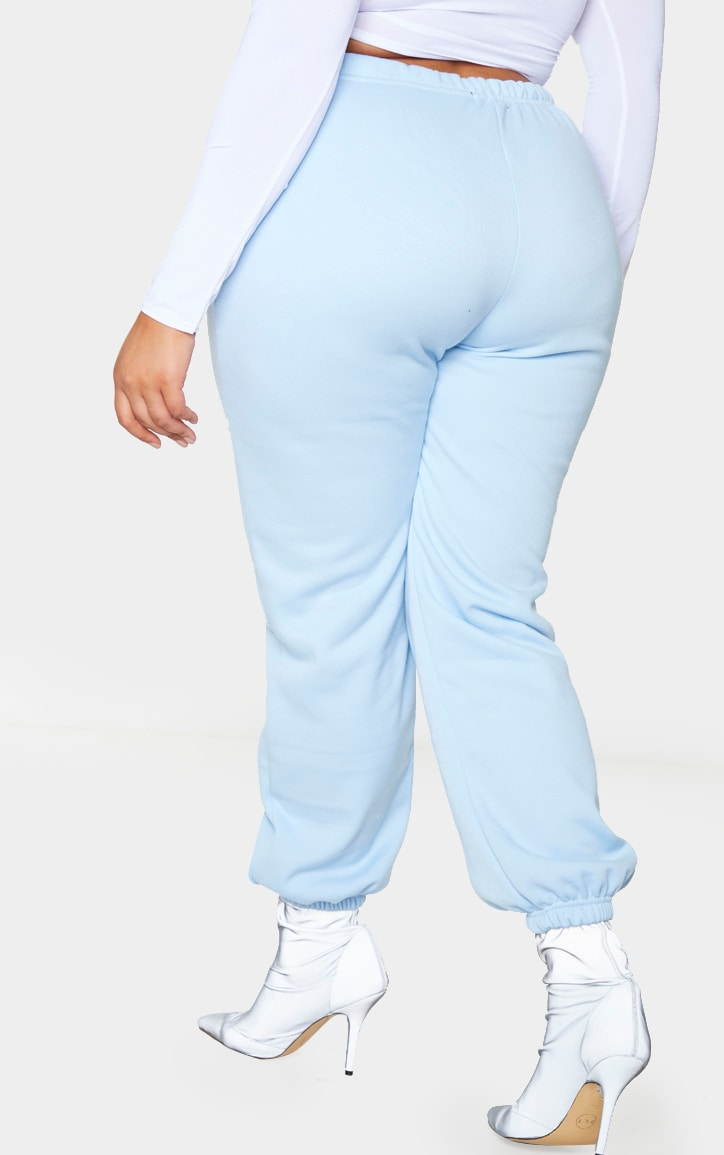 Plus Light Blue Casual Jogger  3
