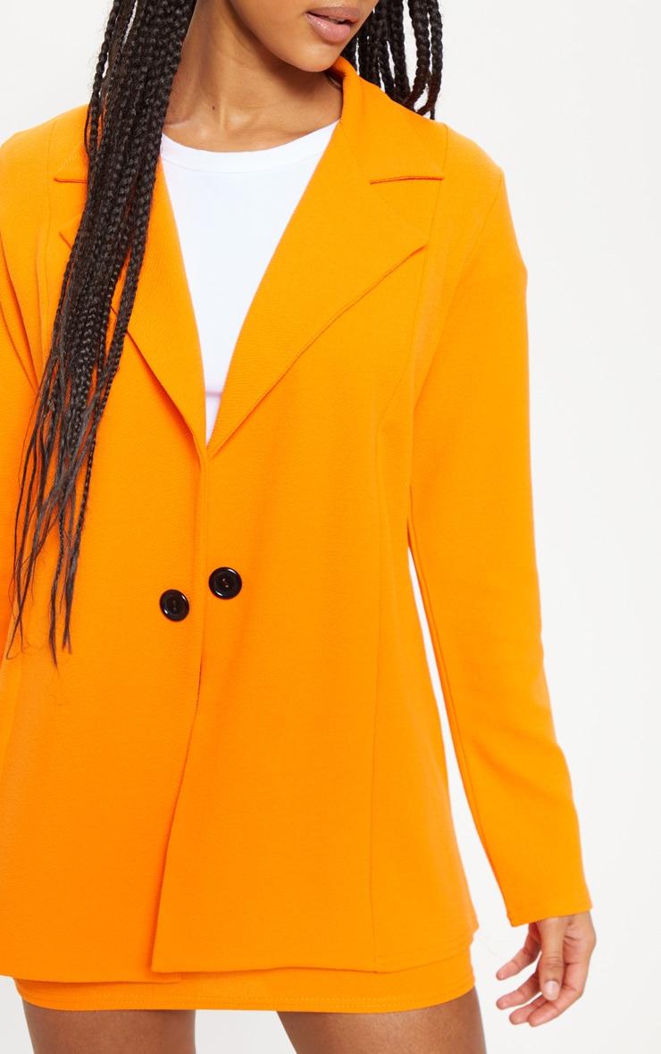 Orange Oversized Blazer 5