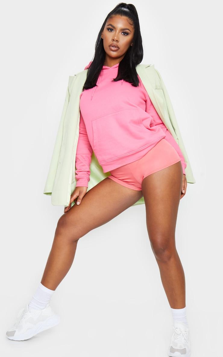 Pink Jersey High Waisted Hot Pants 1