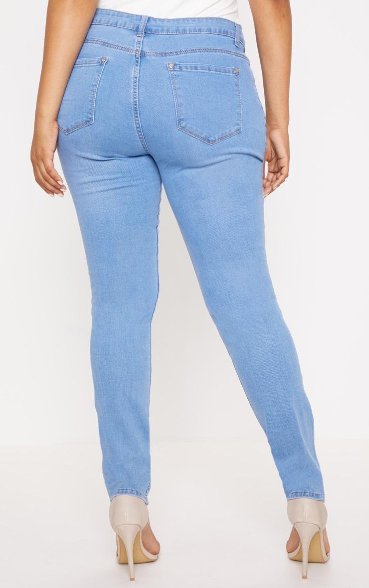 Plus Light Wash Skinny Jeans 3