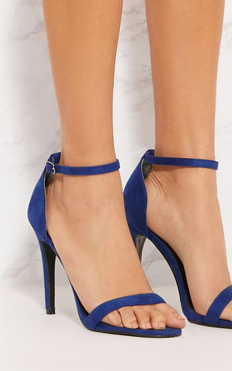 Cobalt Heeled Strappy Sandal 5