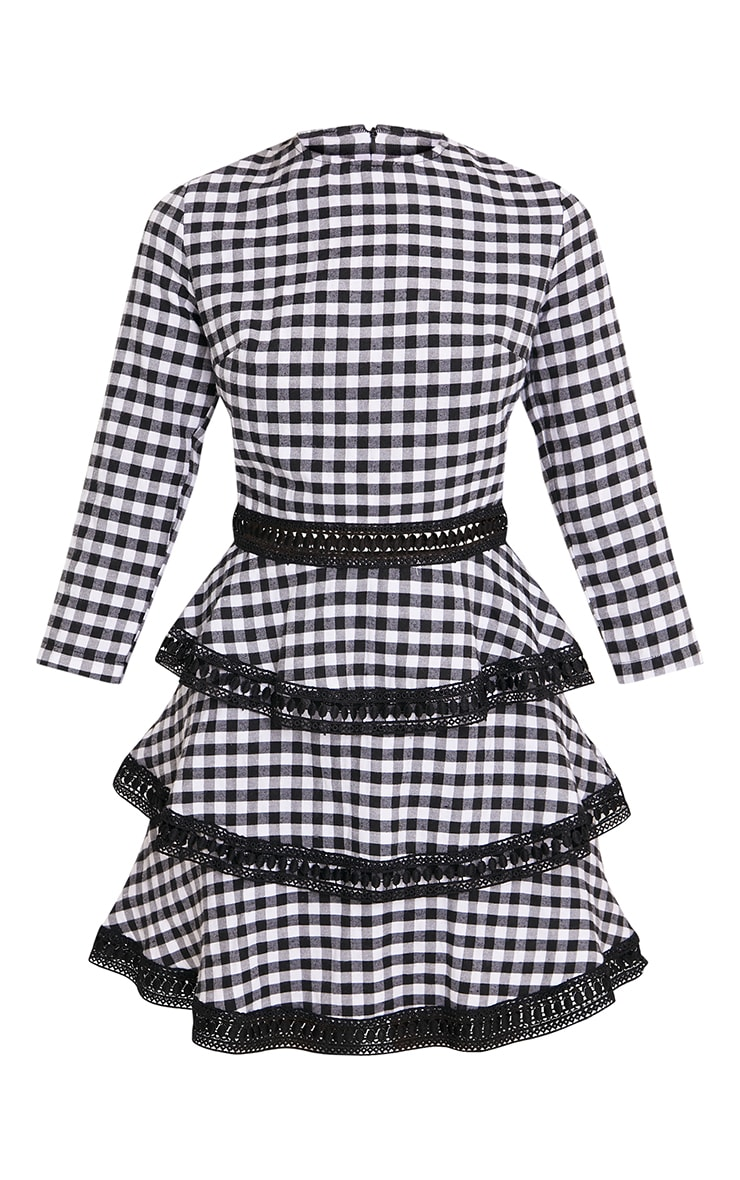Teressa Gingham Lace Trim Mini Dress 3
