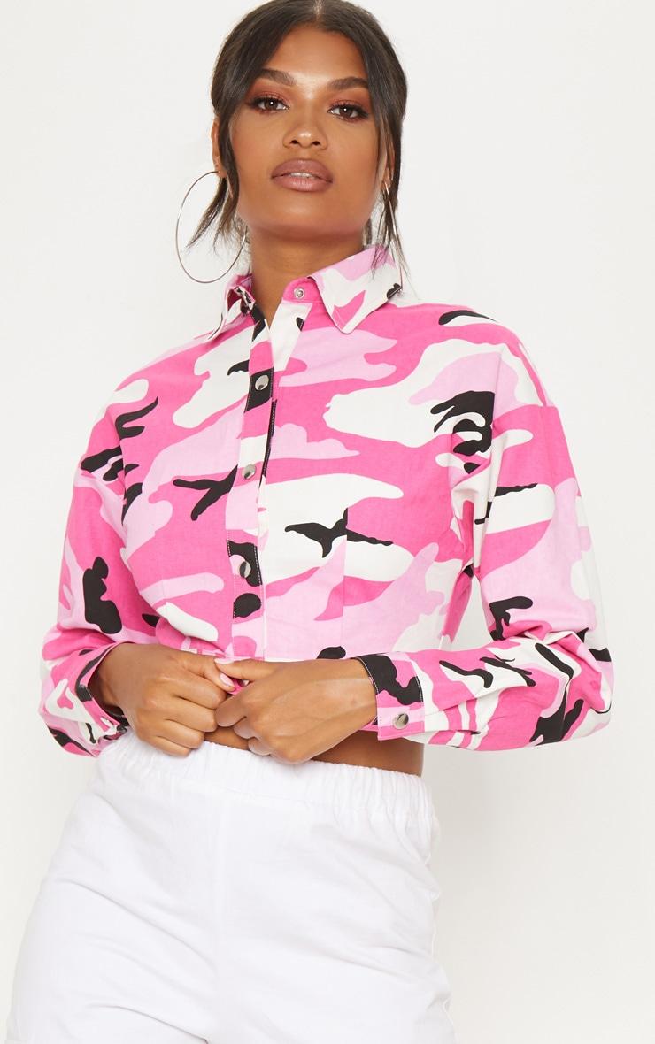 Pink Camo Trucker Jacket