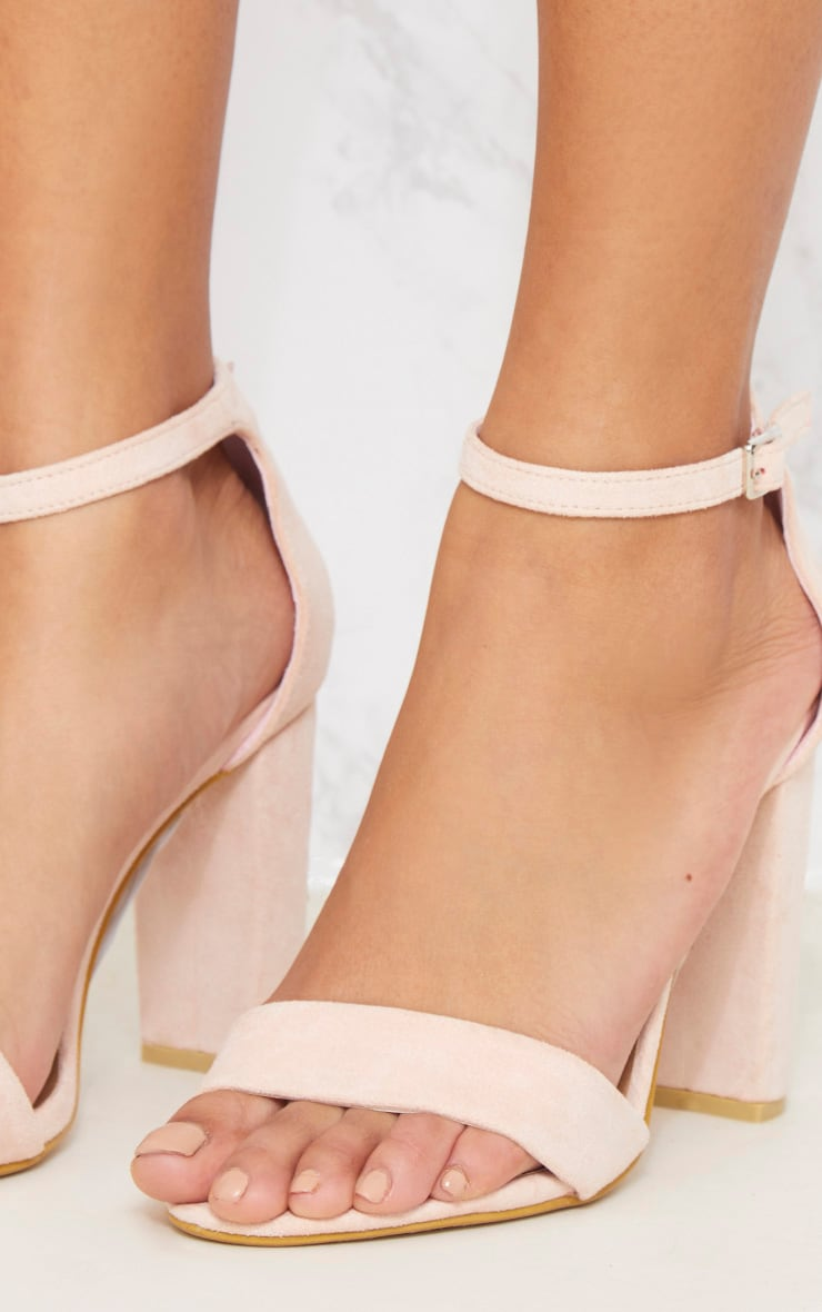 Dusty Pink Block Heel Strappy Sandal 5