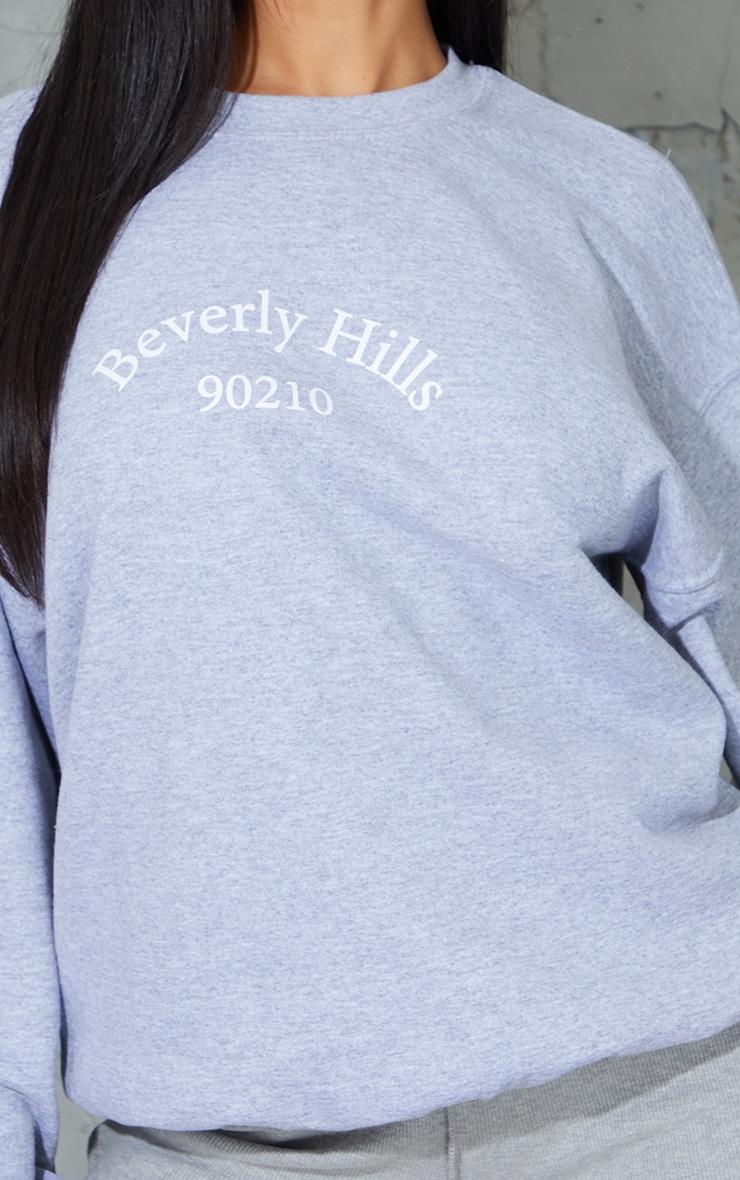 Grey Beverly Hills Printed Sweatshirt 4
