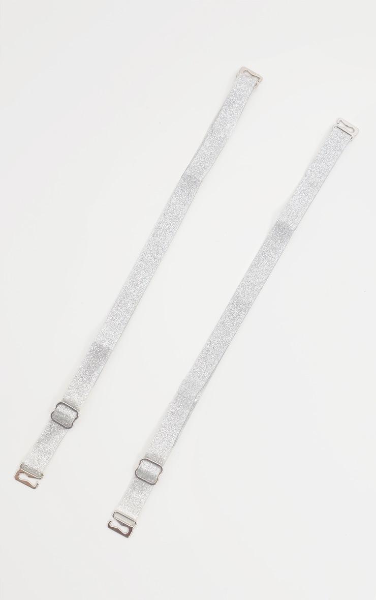 Silver Glitter Bra Straps 2